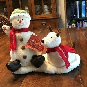 Hallmark Jingle Pals Snowman & Dog Animated NEW